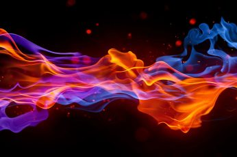 Orange And Blue Lights Wallpaper, Colorful, Abstract