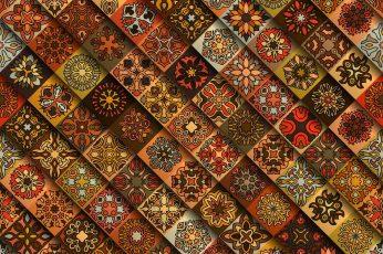 Wallpaper Pattern Abstract Texture Mandala Backgrounds