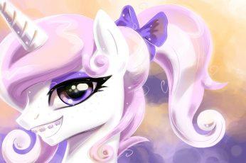 Wallpaper Pony Portrait's 4, Unicorn Illustration, Cartoon