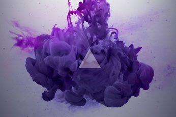 Purple Smoke Digital Wallpaper, Ink, Abstract