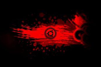 Wallpaper Red, Ubuntu, Linux