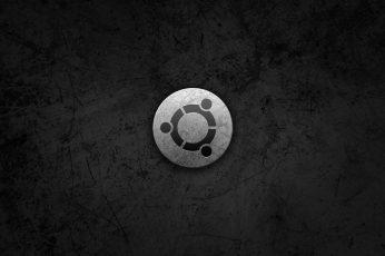 Wallpaper Round Gray Logo, Linux, Gnu, Ubuntu