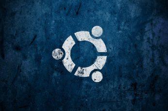 Wallpaper Round White Logo, Abstract, Artwork, Linux, Ubuntu