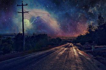 Wallpaper Sky, Nature, Starry Night, Stars, Starry Sky