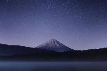 Wallpaper Snow Peak Mountain, Ultrawide, Space, Blue, Nature