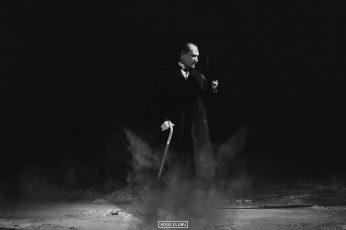 Wallpaper Adult's Grey Stick Cane, Mustafa Kemal Atatürk