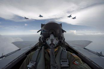 Wallpaper Aircraft Pilot, Pilote, Cockpit, F 15 Eagle