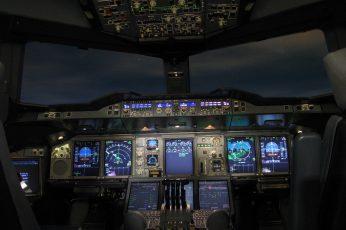 Wallpaper Airplane Control Panel Photo, Cockpit, Aircraft,