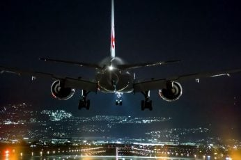 Wallpaper Airplane, Night, Flight, Airline, Air Travel