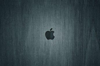 Wallpaper Apple Logo, Apple Logo, Computers, Mac, Wood