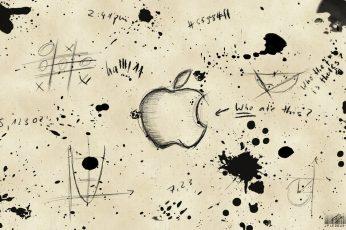 Wallpaper Apple Sketch, Apple Logo, Logo Apple, Iphone, Mac