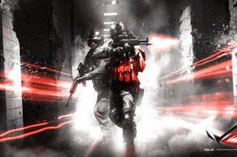 Wallpaper Asus Battlefield 3 Rog Republic Of Gamers