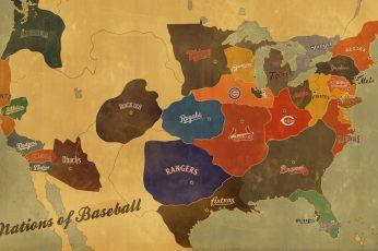 Wallpaper Baseball Mlb Sports Baseball Hd Art Map