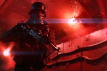 Wallpaper Battlefield V, Mp 40, Gas Masks, World War Ii