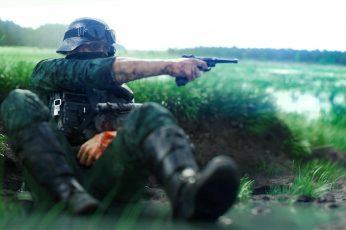 Wallpaper Battlefield V, World War Ii, Luger P08, Combat