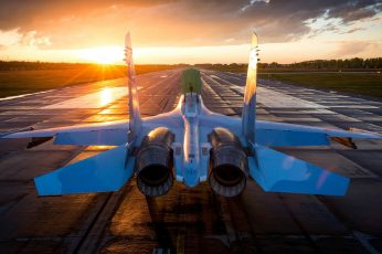 Wallpaper Blue Jet Fighter, Military, Military Aircraft,