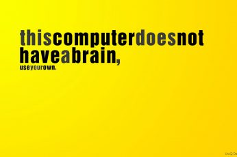 Wallpaper Brain, Computers, Different, Funny, Text, Think