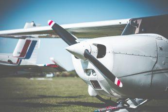 Wallpaper Cessna Airplane Propeller Closeup, Aircraft