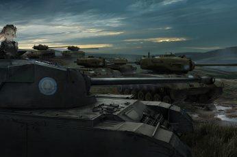 Wallpaper Girls Und Panzer, Battlefield, Tanks, Anime