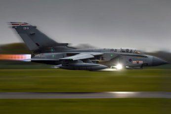 Wallpaper Gray And Black Fighting Jet, Panavia Tornado
