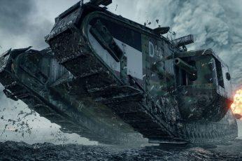 Gray Battle Tank Wallpaper, Battlefield