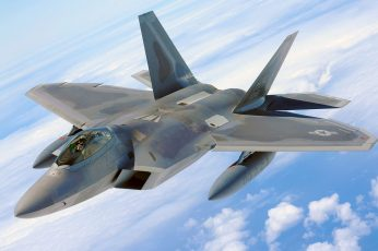 Wallpaper Gray Jet Plane, F 22 Raptor, Military Aircraft