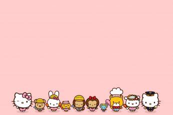 Wallpaper Hello Kitty Clip Art, Anime, Illustration