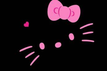 Hello Kitty Wallpaper, Anime, Red, Illuminated