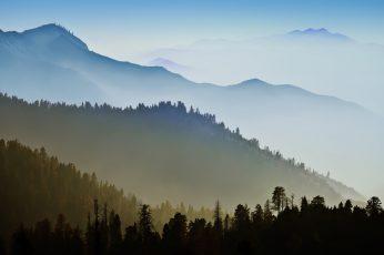 Wallpaper Mac Os X, Mountains, Mist, Forest
