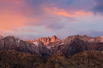 Wallpaper Macos Sierra New, Brown And White Mountains