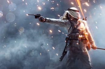 Man Holding Luger Pistol Wallpaper, Battlefield