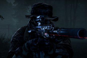 Wallpaper Man Holding Rifle, Video Games, Artwork, Battlefield
