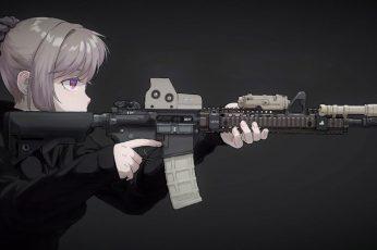 Wallpaper Minimalism, Texture, Anime, Anime Girls, Kawai