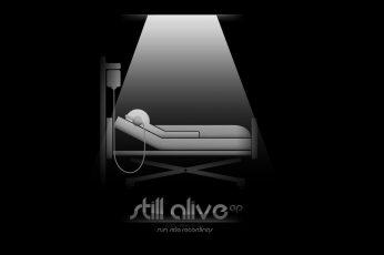 Wallpaper Minimalistic Music, Still Alive