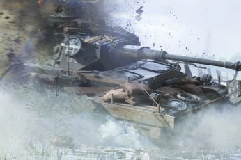 Wallpaper Panzer Iv, Battlefield, Tank, Destruction