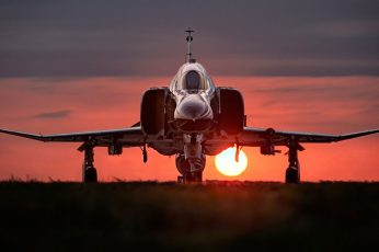 Wallpaper Photography Of Jet Plane During Dawn, Jet Fighter
