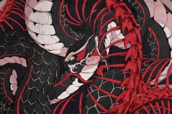 Wallpaper Snake, Ouroboros, Chun Lo, Bones, Serpent