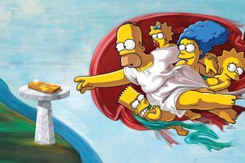 Wallpaper The Simpsons, Humor, Cartoon, Artwork, Tv Remote