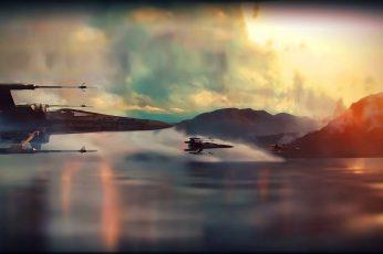 Two Black Ships Digital Wallpaper