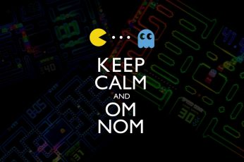 Wallpaper Video Games Text Funny Pacman Keep Calm