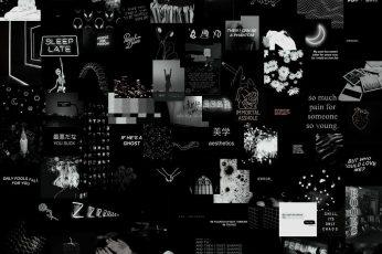 Aesthetic Black Wallpaper, collage