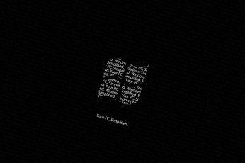 Aesthetic Black Wallpaper, Windows