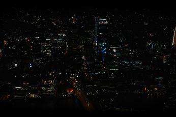 Aesthetic Black Wallpaper, City At Night