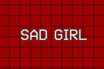 Aesthetic Black Wallpaper, Sad Girl