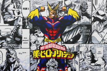 Wallpaper Anime, Boku No Hero Academia, All Might