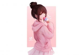 Wallpaper Anime Girls, Original Characters, Women, Brunette