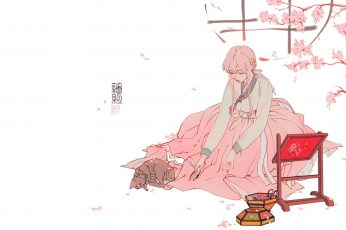 Wallpaper Anime, Manga, Anime Girls, Simple Background