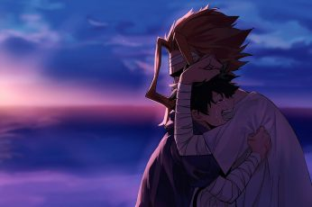 Wallpaper Anime, My Hero Academia, All Might, Boy, Crying