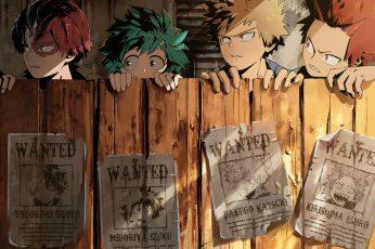 Wallpaper Anime, My Hero Academia, Eijiro Kirishima, Izuku