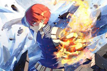 Wallpaper Anime, My Hero Academia, Shoto Todoroki